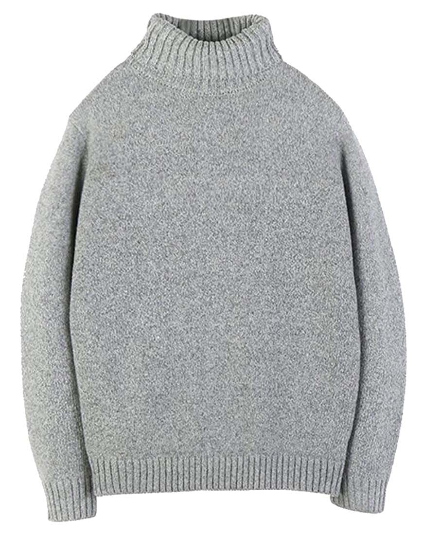 Keaac Mens Pullover Sweater Casual Slim Fit Knitted Turtleneck Sweater Top
