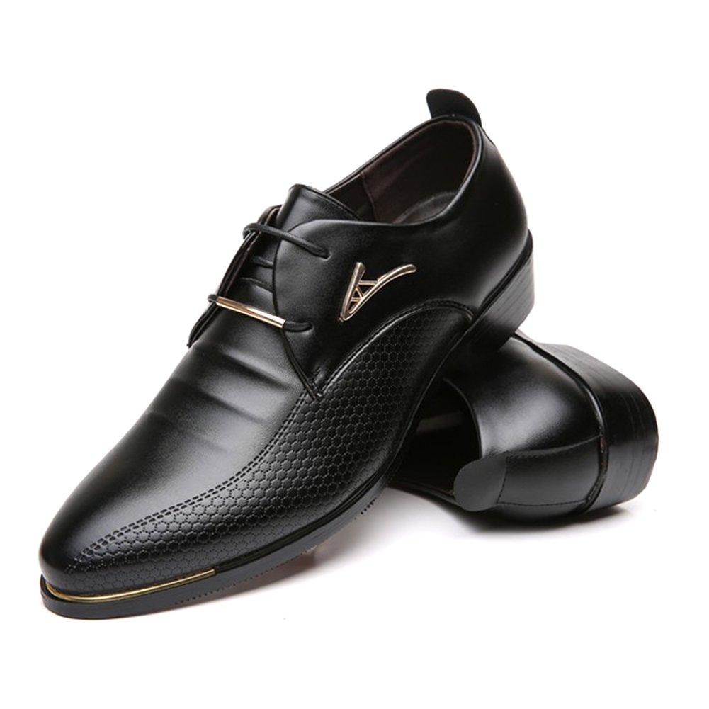 Blivener Men's Pointed Toe Classic Oxford Formal Business Dress Shoes Black US 8.5 by Blivener (Image #7)