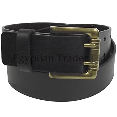 Howick Mens Real Leather Designer Double Prong Belts Brown Black Large  Jeans Wide (40