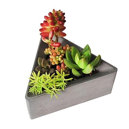 PROKTH triángulo bricolaje maceta de jardín moldes de silicona moldes de hormigón maceta vela jabón botella