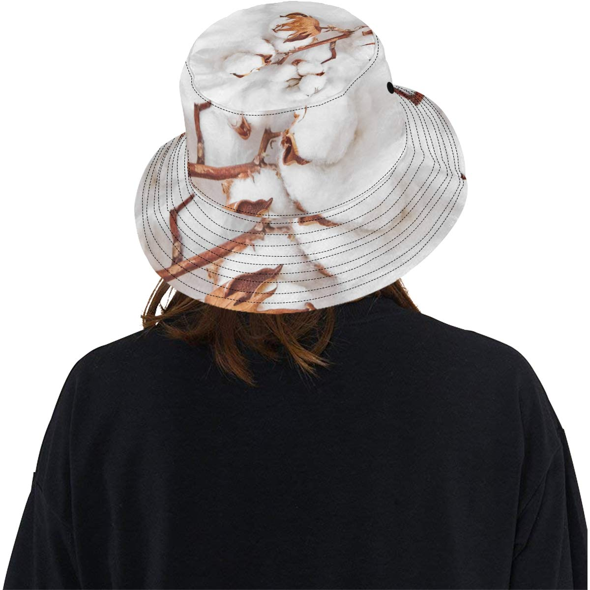 White and Clean Cotton New Summer Unisex Cotton Fashion Fishing Sun Bucket Hats for Kid Teens Women and Men with Customize Top Packable Fisherman Cap for Outdoor Travel
