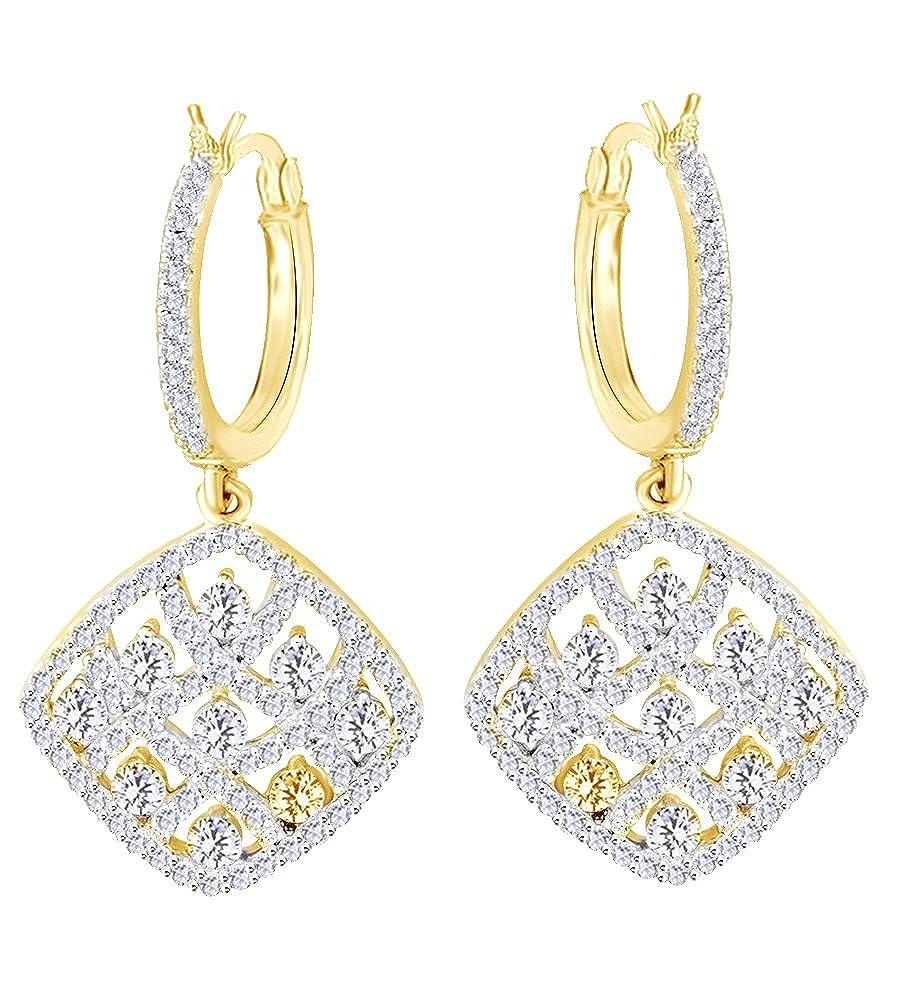 1,5 Karat Rundschliff natur Creolen Diamant Weißszlig; in 14 ct 585 Massiv Weißszlig; Gold 14 Karat (585) GelbGold