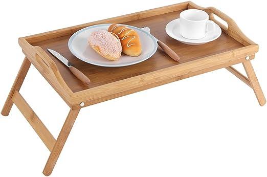 Cocoarm Mesa de Bambú para Sofá o Cama, Bandeja de Desayuno con ...