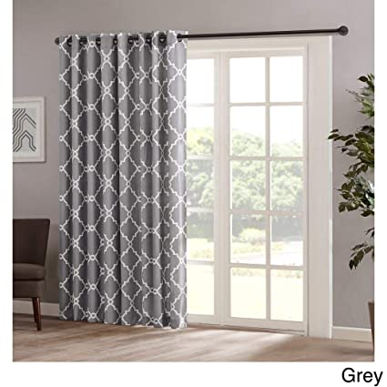 Amazon.com: 1pc 84 Grey Color Geometric Sliding Door Curtain, Gray on