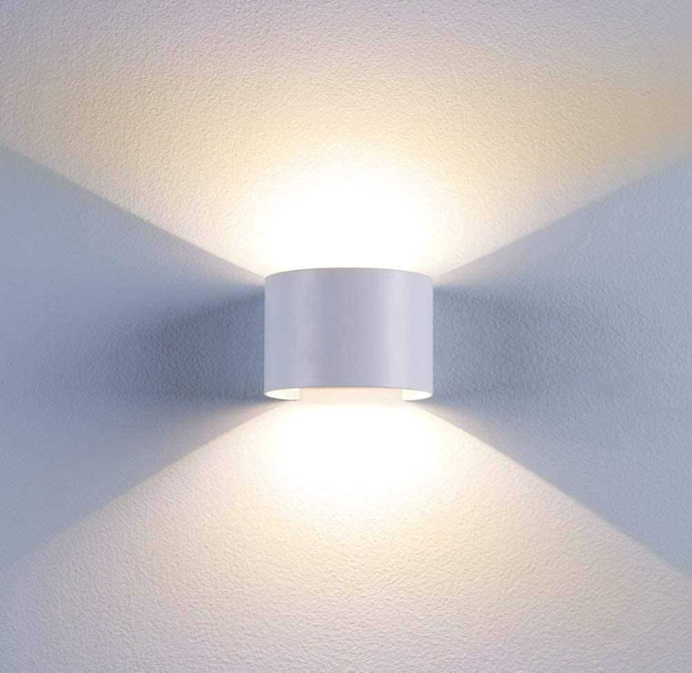7W LED Wandlampe Winkelverstellbar IP65 Wandleuchte UpdownLight Warmweiß