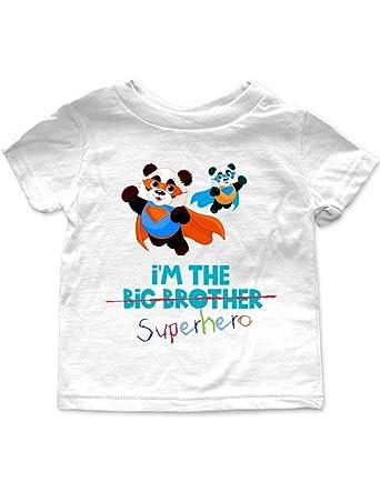 22dd433d Amazon.com: I'm The Big Brother Superhero Panda - Baby Birth Pregnancy  Announcement Toddler Shirt: Clothing
