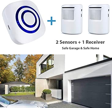 Wireless Driveway  Alarm System Two Infrared Sensors Garage Shed Motion Detector