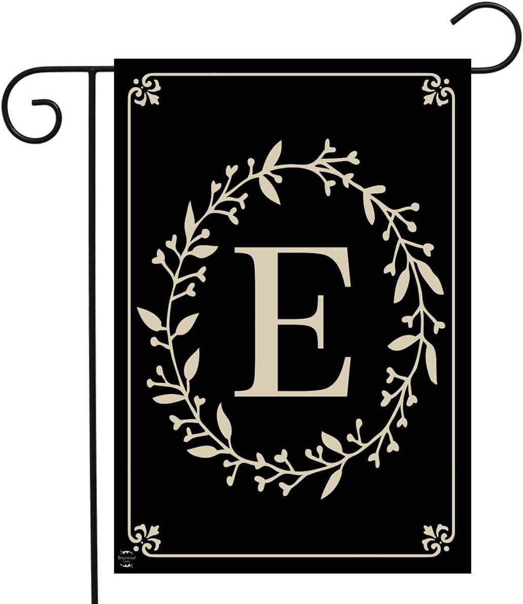 "Briarwood Lane Classic Monogram Letter E Garden Flag Everyday 12.5"" x 18"""