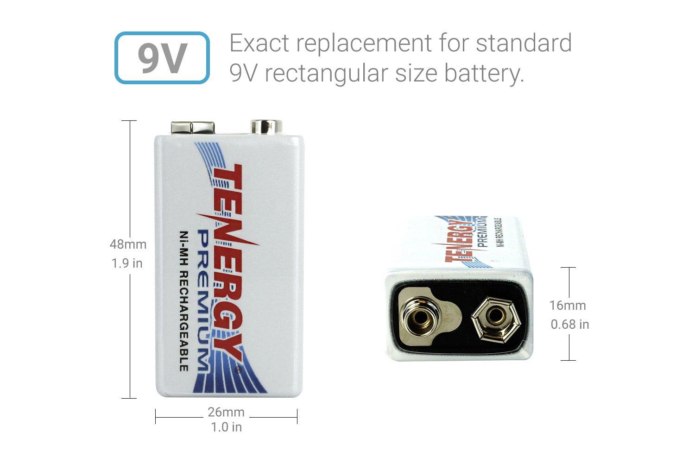 20 pcs of Tenergy Premium 9V 200mAh NiMH Rechargeable Batteries by Tenergy (Image #3)