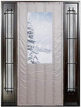 Cortina de Puerta Gris Protección Térmica Cortina de Puerta para Invierno Ingreso Puerta Principal Invernadero Garaje Granero Aislamiento Cálido, Personalizar (Size : 150x200cm): Amazon.es: Hogar