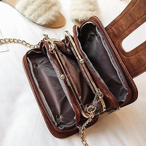 petit épaule cent tours mode sac sac vintage oblique chaîne main Aoligei à petit côté paquet unique A Multicouche CpanWq5