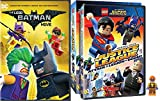 Lego DC Comics DVD Collection - The Lego Batman Movie & Justice League: Attack of the Legion of Doom Original Lego Movie with Trickster MiniFigure 2-Movie Bundle