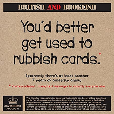 Youd Better Get Used To Rubbish Cardsl Humorous Birthday Greeting Card