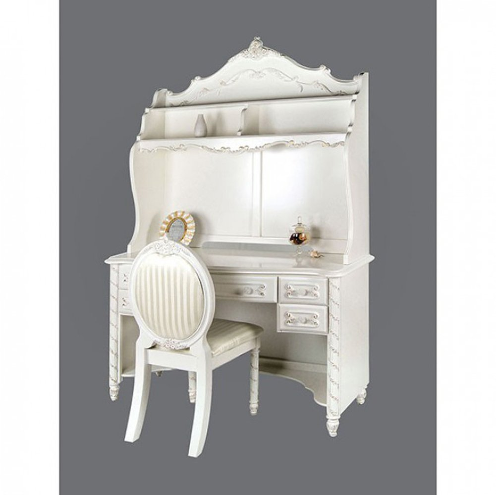 Furniture of America CM7226DK Alexandra Pearl White Desk Writing by Furniture of America