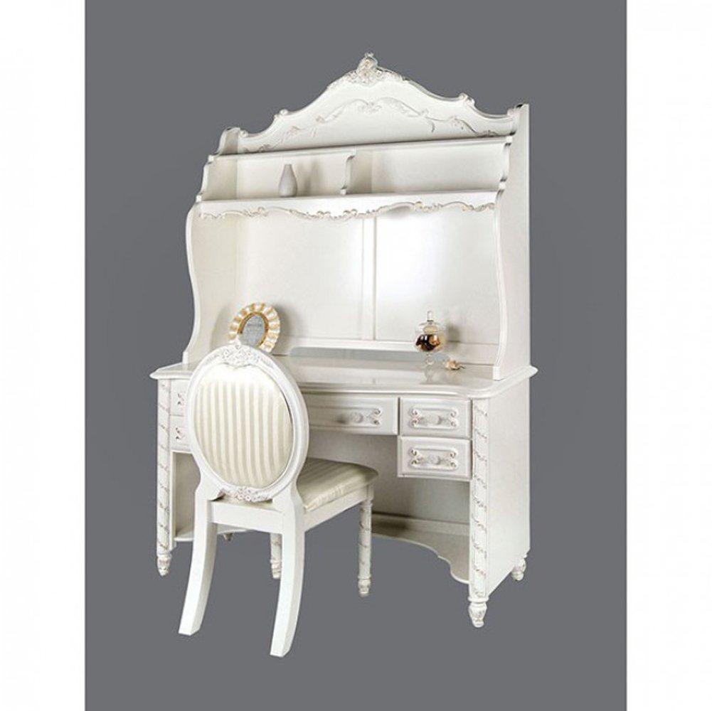 Furniture of America CM7226DK Alexandra Pearl White Desk Writing