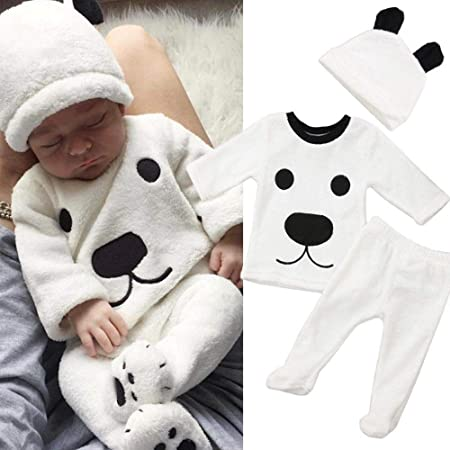 Amazon.com: Auwer Christmas Baby Outfits Newborn Baby Cartoon Bear ...