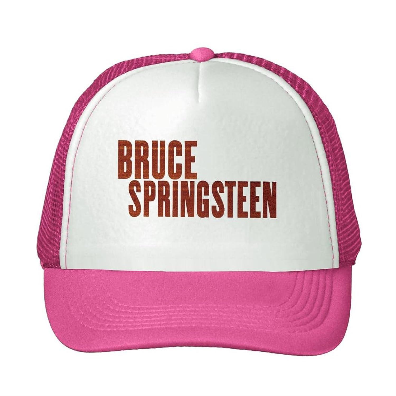 Woman Men Cotton 2016 Bruce Springsteen Logo Adjustable Mesh Caps