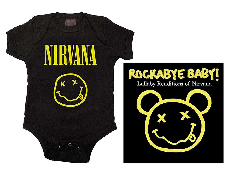 378137ebf Amazon.com: Kiditude Nirvana Baby Onesie and Lullaby CD: Clothing