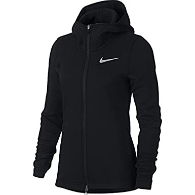 a2f14b382 Nike Women's Dry Showtime Basketball Hoodie Black/White Size Large