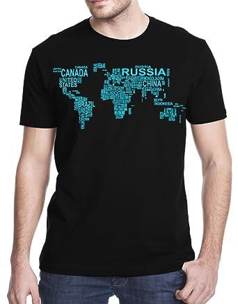 Amazon world map country art t shirt clothing world map country art t shirt small black gumiabroncs Choice Image