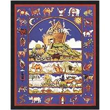 Poster Palooza Framed Noah's Ark Alphabet- 16x20 Inches - Art Print (Classic Black Frame)