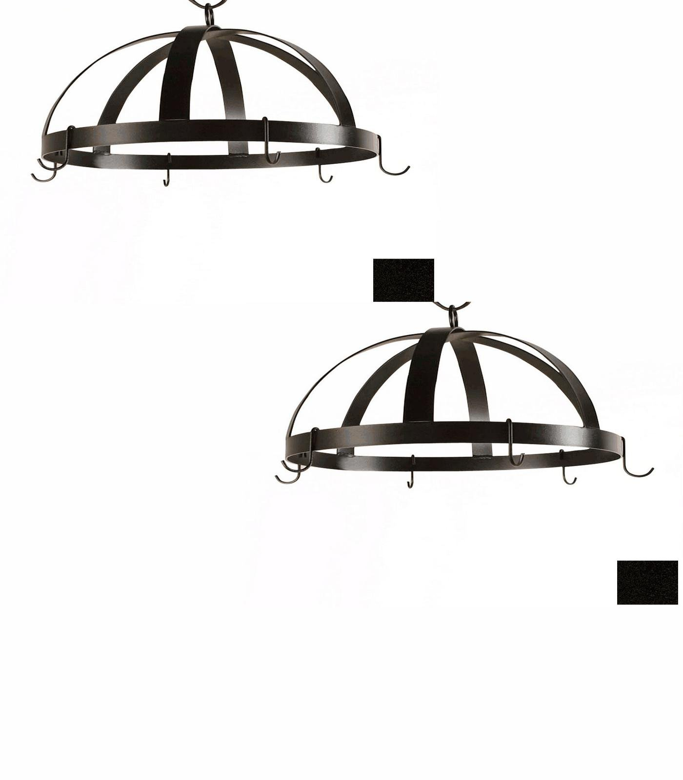 20-in x 20-in Satin Black Dome Pot Rack - Grace Collection Model - GMC-DPR-20-SB - Set of 2 Gift Bundle by Grace Collection