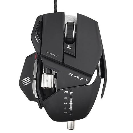 Amazon.com: Mad Catz mouse gamer para PC y Mac, Negro mate ...