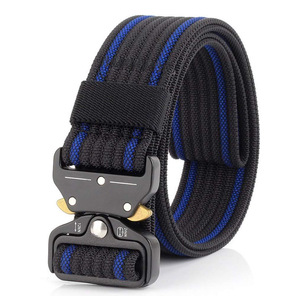 DAMOWANG Nuevas tácticas de Hebilla cinturón de Nylon 3.7cm Casual cinturón de Lona para Hombres y Mujeres, el Entrenamiento Militar cinturón,110cm.