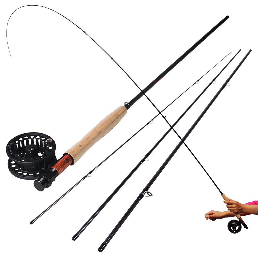 Sougayilang saltwater freshwater fly fishing rod with reel for Trout fishing rod and reel