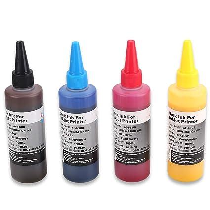 HEMEI Tinta de sublimación de 4 botellas para impresoras de 4 ...