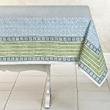 Allen Hand Block Printed Cotton Tablecloth (India)