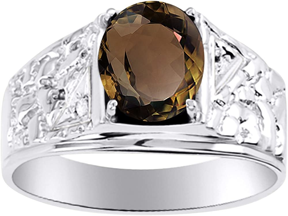 Rylos Mens Onyx /& Diamond Ring Sterling Silver or Yellow Gold Plated