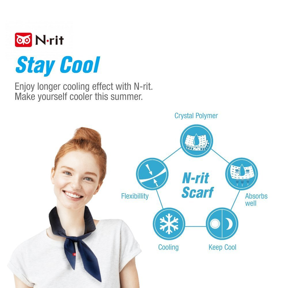 Leisure Activities Indoor Head to Instantly Chill Out Sports Great for Summer KarenDeals New 2019 Cooling Scarf Wrap Soaked Tie Around Neck Outdoor