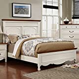 Galesburg Cherry & White Finish Queen Size 6-Piece Bedroom Set