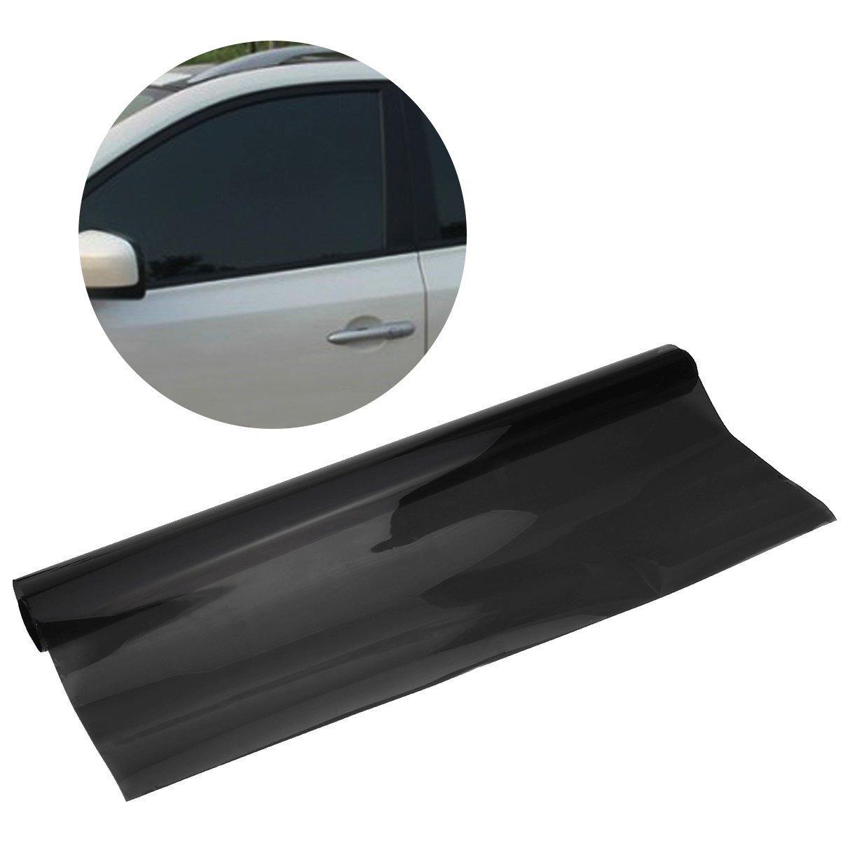 WINOMO Car Window Tint Film Reflective Window Tint Privacy Sticker for Car Home House Office (Dark Black)