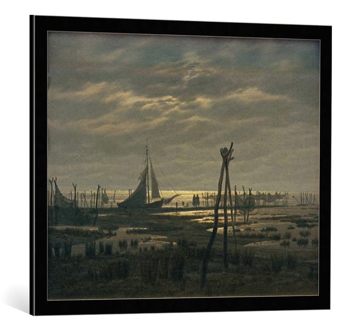 Kunstdruck/Poster: Caspar David Friedrich Sumpfiger Strand ...