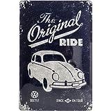 """Nostalgic-Art 22202 Plaque en métal """"Coccinelle originale de Volkswagen"""" [en anglais] 20 x 30 cm"""