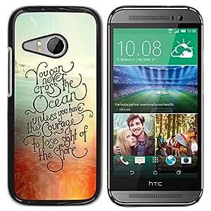 TopCaseStore / la caja del caucho duro de la cubierta de protección de la piel - Surf Surfboard Summer - HTC ONE MINI 2 / M8 MINI