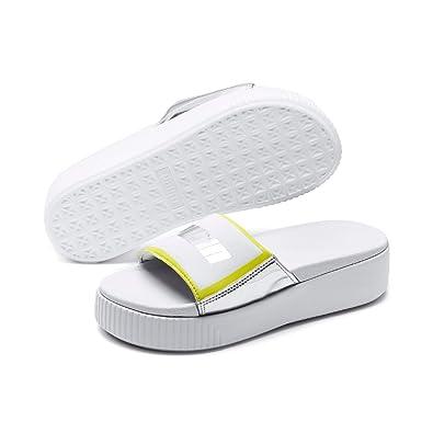 d7d4b18ca3ea4 PUMA Women's Platform Slide TZ Metallic WNS Fashion Sandals: Amazon ...