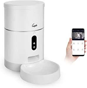 Gegobo Automatic Cat Feeder, 1080P HD Camera, 2-Way Audio, Voice Recorder, Timed Feeding Control, Portion Control, 4L Food Capacity, 2.4G WiFi Enabled for iPhone and Android