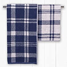 Catherine Lansfield Kelso Jacquard Bath Towel - Navy by Catherine Lansfield