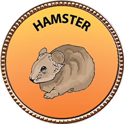 Keepsake Awards Hamster Award, 1 inch Dia Gold Pin Pets Collection: Toys & Games [5Bkhe0506698]