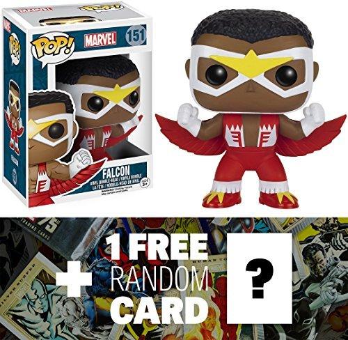 (Falcon: Funko POP! x Marvel Universe Vinyl Bobble-Head Figure + 1 FREE Official Marvel Trading Card Bundle)