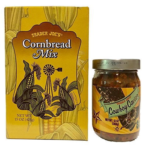 Trader Joes Cornbread Mix and Cowboy Cavier With Recipe for Cowboy Caviar Cornbread -