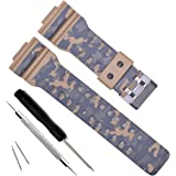 6520235473e Natural Resin Replacement Watch Band Strap for Casio Mens G-Shock GD120 GA-