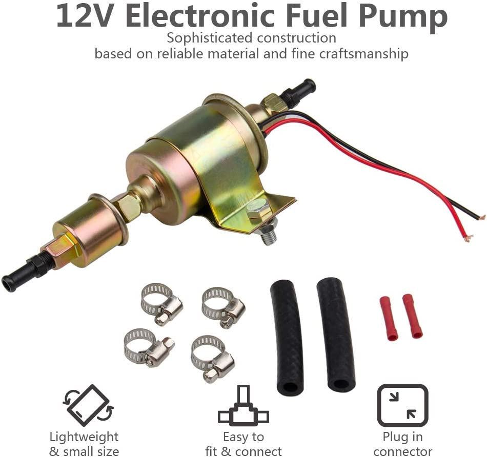 EXTERNAL ELECTRIC FUEL PUMP IN LINE 5psi-9psi 3//8 Line 30gph UNIVERSAL
