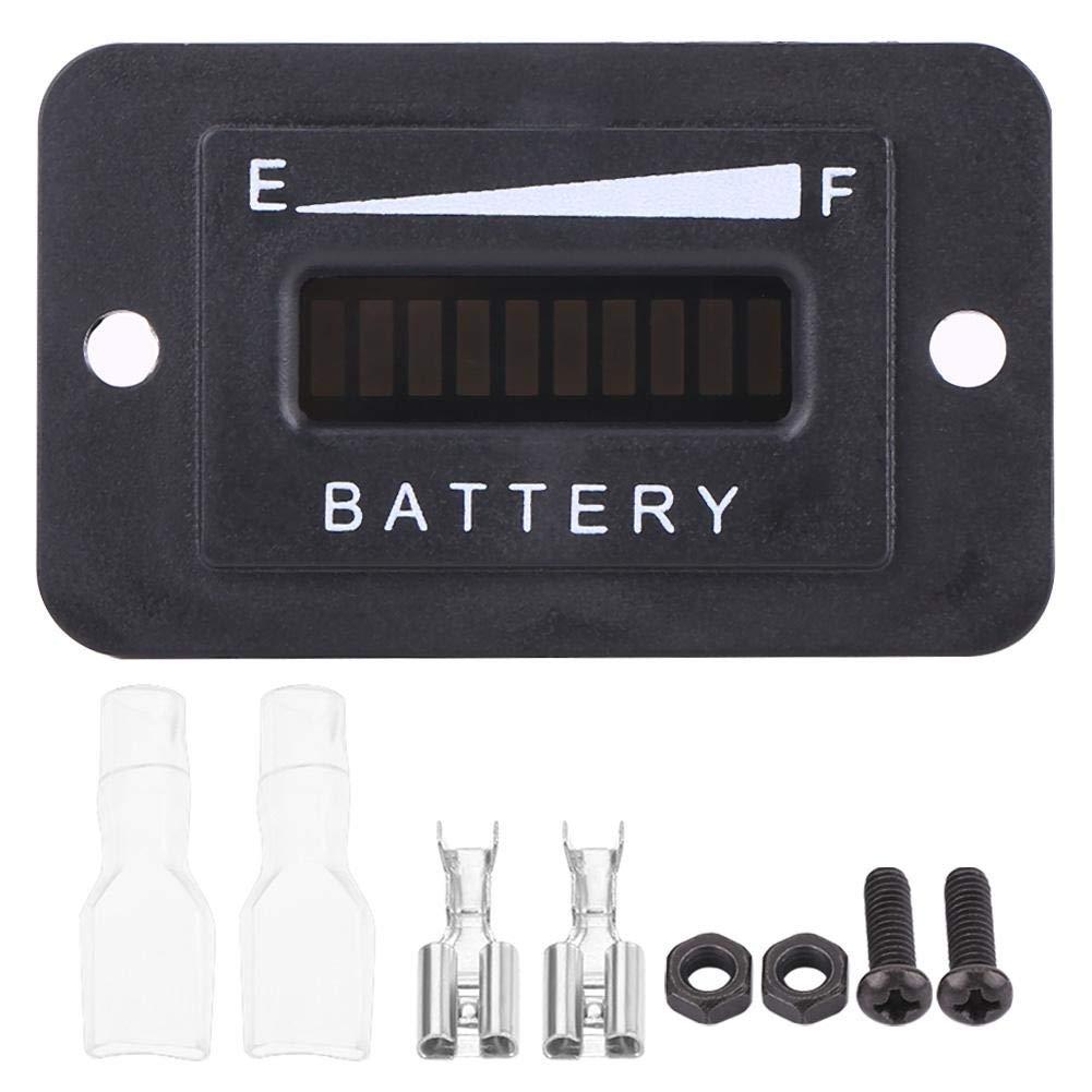 BI003-12//24V Fydun indicateur de batterie num/érique 12V 24V 36V 48V LED Jauge Indicateur de batterie