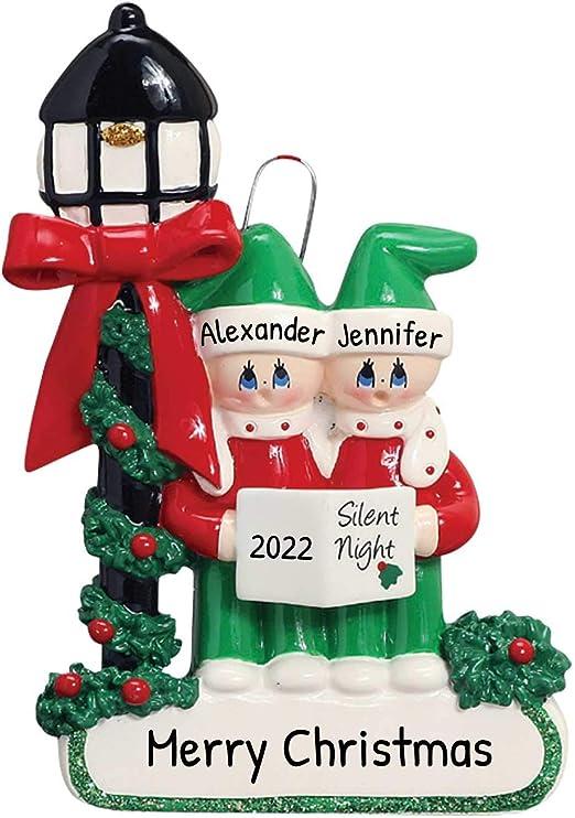 Amazon.com: Personalized Carolers Family of 2 Christmas Tree