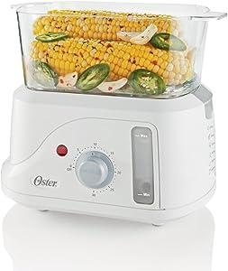 Oster CKSTSMM10 1-1/3-Quart Egg Cooker and Mini Food Steamer, White
