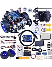 Quimat RC Car R3 Project Smart Robot Car Kit, Tracking Module,Ultrasonic Sensor and Bluetooth Remote Control for Teens and Adults